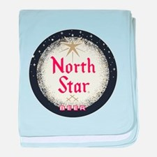 North Star Beer logo baby blanket