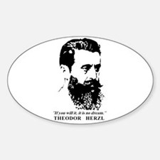 Theodor Herzl - Israel Quote Decal