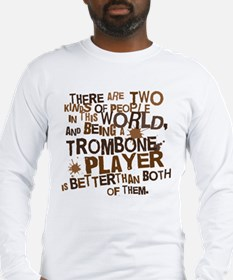 Funny Trombone Player Long Sleeve T-Shirt