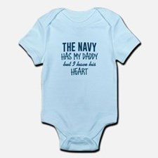 Navy Daddy's Heart Infant Bodysuit