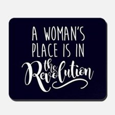 Womans Place in Revolution Mousepad