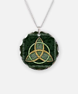Triquetra Necklace Circle Charm