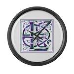 Monogram - Lang Large Wall Clock