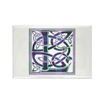 Monogram - Lang Rectangle Magnet (100 pack)