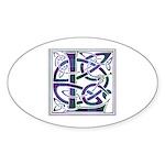 Monogram - Lang Sticker (Oval 10 pk)