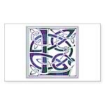 Monogram - Lang Sticker (Rectangle)