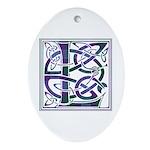 Monogram - Lang Ornament (Oval)