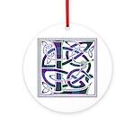 Monogram - Lang Ornament (Round)