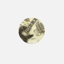 Vintage Guitar Mini Button (100 pack)