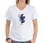 Map - Lang Women's V-Neck T-Shirt