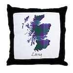 Map - Lang Throw Pillow