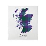 Map - Lang Throw Blanket