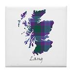 Map - Lang Tile Coaster