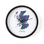 Map - Lang Wall Clock