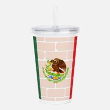 Mexican Wall And Flag Acrylic Double-wall Tumbler