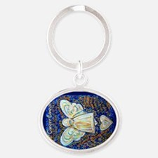 Blue & Gold Cancer Angel Keychains