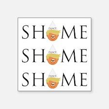 """Unique Nope Square Sticker 3"""" x 3"""""""