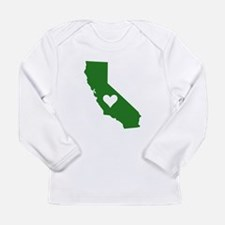 Green California Long Sleeve T-Shirt