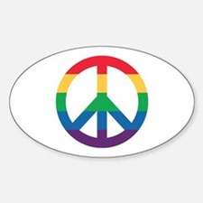 Rainbow Peace Sign Decal