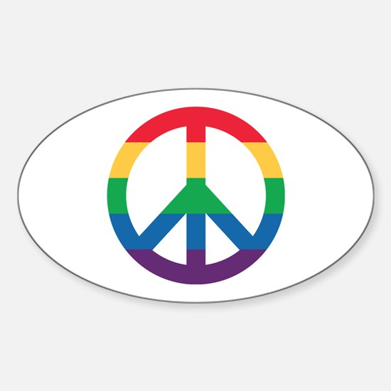 Rainbow Peace Sign Decal