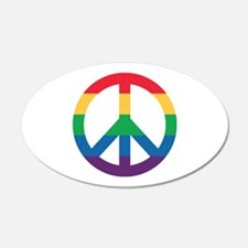Rainbow Peace Sign Sticker Wall Decal
