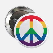 """Rainbow Peace Sign 2.25"""" Button (100 Pack)"""