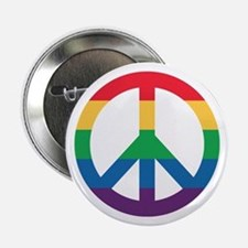"""Rainbow Peace Sign 2.25"""" Button (10 Pack)"""
