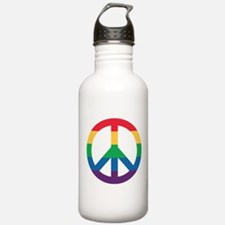 Rainbow Peace Sign Water Bottle