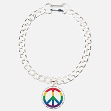 Rainbow Peace Sign Bracelet