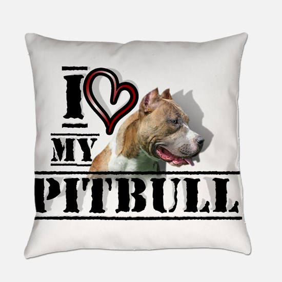 Funny Pittie Everyday Pillow