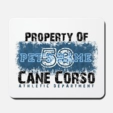 Personalized Cane Corso University Mousepad