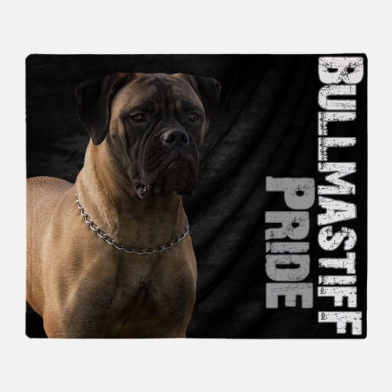 Cool Bullmastiff Throw Blanket