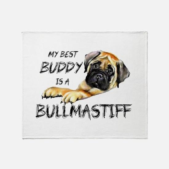 Funny Bullmastiff Throw Blanket