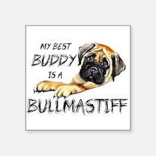 "Cute Bullmastiff Square Sticker 3"" x 3"""