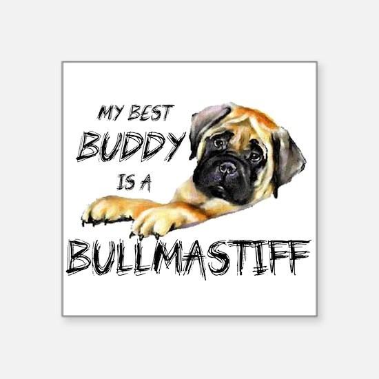 "Unique Bullmastiff Square Sticker 3"" x 3"""