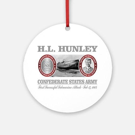 HL Hunley (Dixon) Round Ornament