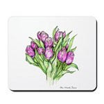 Purple Tulips Mousepad