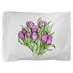 Purple Tulips Pillow Sham