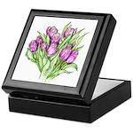 Purple Tulips Keepsake Box