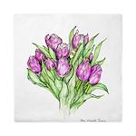 Purple Tulips Queen Duvet