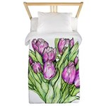 Purple Tulips Twin Duvet