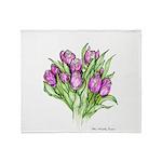 Purple Tulips Throw Blanket