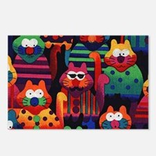 Cool Colorful Cats Postcards (Package of 8)