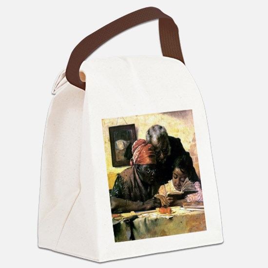 Cute African american Canvas Lunch Bag