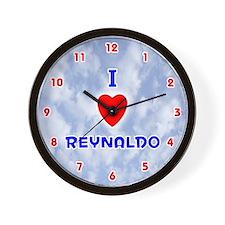 I Love Reynaldo (Red/Bl) Valentine Wall Clock