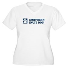 NORTHERN INUIT DOG Womes Plus-Size V-Neck T-Shirt