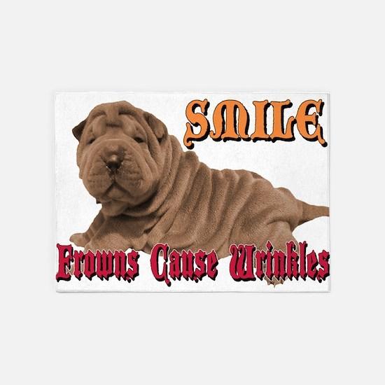 Smile Wrinkles 5'x7'area Rug