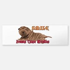 Smile Wrinkles Bv Bumper Bumper Bumper Sticker
