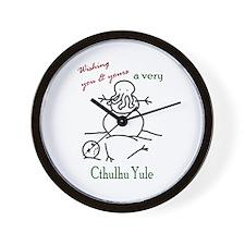 Cthulhu Yule Wall Clock