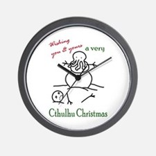 Cthulhu Christmas Wall Clock